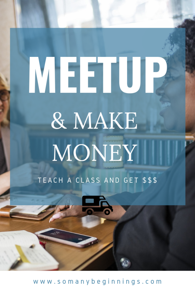 make money with meetup events and classes